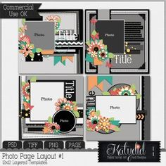 Quick Page Layered Templates Pack No 1
