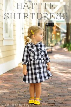 Sewing For Kids Brownie-Goose, Hattie {Stitched by Crystal} - Frances SuzanneFrances Suzanne My Little Girl, Little Girl Dresses, My Baby Girl, Girls Dresses, Girls Dress Shoes, Sewing For Kids, Baby Sewing, Baby Girl Fashion, Kids Fashion