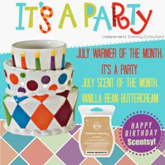 It's a Party! <3 #scentsy  Available July 1st, contact me to get yours at https://tracytodaro.scentsy.us or todaro@fidnet.com