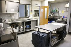 The commercial kitchen offers a space to put together a home cooked meal in a community environment.