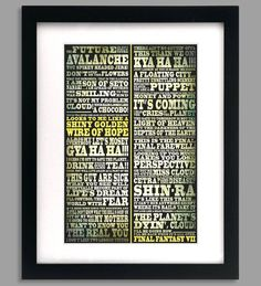 12x18 Final Fantasy 7 Shiny Golden Wire of Hope Quotes Print by GeekyPrintsandMore, $12.95