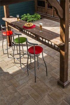 outdoor kitchen idean with Outdoor bar. outdoor kitchen idean with Outdoor bar. this is sweeeeeet lookn'! Bar Patio, Patio Pergola, Backyard Bar, Pool Bar, Pergola Plans, Pergola Ideas, Pergola Kits, Patio Ideas, Deck Bar