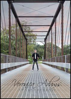 Guy's High School Senior Picture on Bridge  Veronica Adams Photography