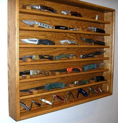 knife making at home Wall Mounted Display Cabinets, Knife Making, Wine Rack, Make It Simple, Storage, How To Make, Diy, Furniture, Home Decor