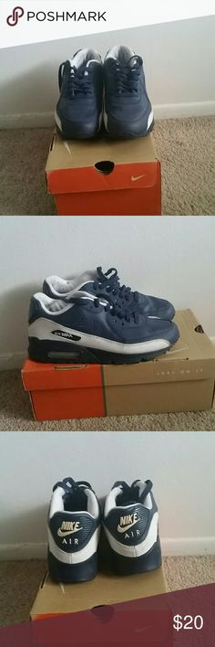 Nike Air Max Slightly Worn Navy Blue/White Air Max Nike Shoes Sneakers