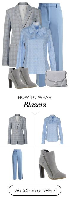 """Blues & Grey"" by alpate on Polyvore featuring MSGM, TIBI, Le Sarte Pettegole, Michael Antonio and Halston Heritage"