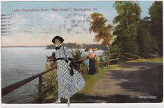The Kodak Girl visits Red Rocks in Burlington Vt. Collage Liza Cowan.