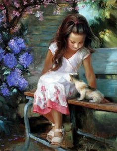 Painting by artist Vladimir Volegov. Greg Olsen Art, Vladimir Volegov, Foto Art, Beautiful Paintings, Oeuvre D'art, Art Pictures, Painting & Drawing, Garden Painting, Artist Painting