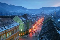 Romania: Cost of Living in 2016 (Bucharest, Cluj, Timisoara, Brasov etc) Brasov Romania, Transylvania Romania, Natural Scenery, Eastern Europe, Places To See, Travel Destinations, Beautiful Places, Around The Worlds, Winter