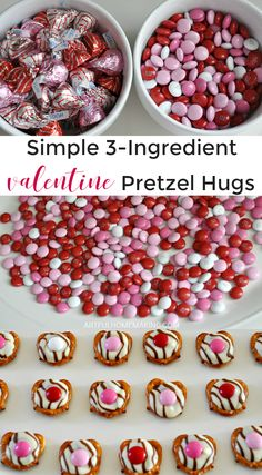 Valentine Pretzel Treats These Valentine's Pretzel Treats only have 3 ingredients! (Could make these Gluten-free by using GF pretzels.)These Valentine's Pretzel Treats only have 3 ingredients! (Could make these Gluten-free by using GF pretzels. Valentine Desserts, Valentines Baking, Valentine Cookies, Holiday Desserts, Holiday Treats, Holiday Recipes, Valentine Food Ideas, Easter Cookies, Birthday Cookies