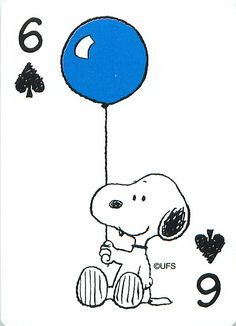 Snoopy Playing Cards   Snoopy comic playing card six.   Mark Anderson   Flickr