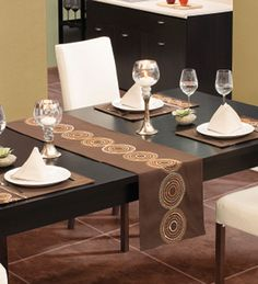 Camino de Mesa Maids, Fabric Art, Tables, Dining Table, Cushions, Decorating, Business, Kitchen, Furniture