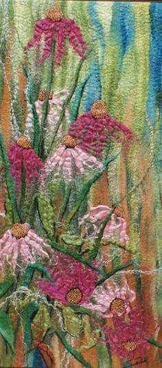 Coneflower art quilt Rahola | Drdul | Gallery