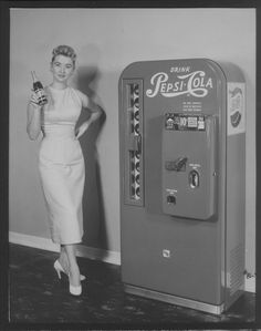 the machine i remember dad buying us pepsi from for our long, hot trip to grandma's house in phoenix. Soda Machines, Vending Machines, Remembering Dad, Cola Drinks, Pepsi Cola, Coke, Retro Advertising, Ads, Old Boxes