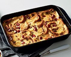 Holiday 2014 Raisin Cranberry Eggnog Bread Pudding