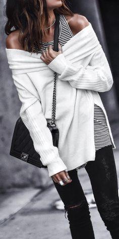 white oversized tunic