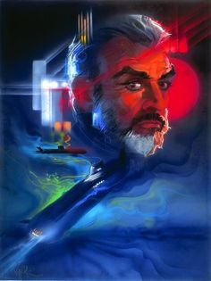 "Bob Peak's poster for ""The Hunt For Red October,"" 1990."