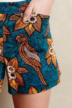 Typically worn in West Africa but celebrated worldwide, Dutch wax prints are known for their bold colors and captivating motifs. This one is bird of paradise.