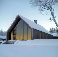 Snow? Wouldn't mind it in this Modern Barn House.