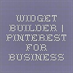 Widget Builder | Pinterest for Business