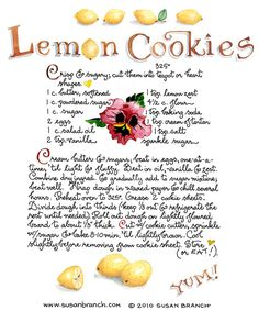 Lemon sugar cookies by joni.kester Lemon sugar cookies by joni. Old Recipes, Lemon Recipes, Vintage Recipes, Cookie Recipes, Dessert Recipes, Recipies, Party Recipes, Lemon Desserts, Just Desserts
