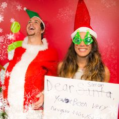 Alex & Sierra -- I 'ship it! Alex And Sierra, Christmas Cards, Merry Christmas, Funny Pictures, Funny Pics, Holiday Photos, Celebs, Celebrities, Dear Santa