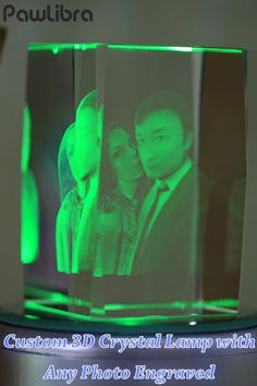 This wonderful photo laser etched crystal lamp will bring your favorite photographs to life. Your photo is laser engraved into a high quality crystal cube in all its glory. Photo Lamp, 3d Photo, Glass Engraving, Photo Engraving, Etched Glassware, Relationship Gifs, Lamp Makeover, 3d Crystal, Picture Holders