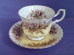 A personal favorite from my Etsy shop https://www.etsy.com/ca/listing/599085180/royal-albert-sonata-teacup-and-saucer