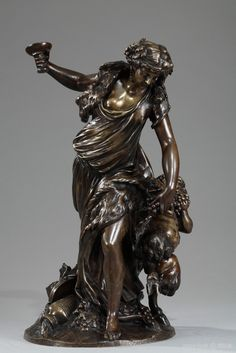 Mid-19th century Claude Michel Clodion (French, 1738 -1814) bronze figural group…
