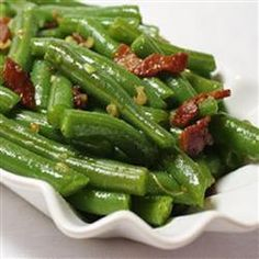 "Garlic Green Beans | ""Sooo good! Used fresh green beans and don't forget the Parmesan, it adds that extra yumminess!!"""