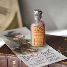 Embellish this #Antique #Medicine #Bottle Balm of Tulips with by @thelostrooms . Would make lovely decor item.