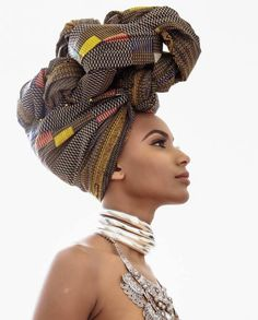 A Place Where Beauty & Culture Collide. While Celebrating The Beauty & Style of The African Diaspora & African Beauty, African Women, African Fashion, My Hairstyle, Scarf Hairstyles, Black Hairstyles, Style Turban, Pelo Afro, African Head Wraps