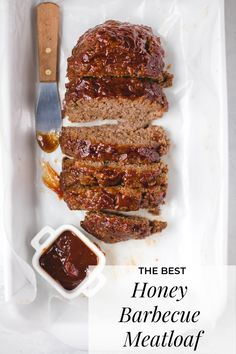 The Best Honey Barbecue Meatloaf Recipe - Honey Barbecue Meatloaf Recipe – The best, most crowd-pleasing meatloaf EVER. Tried and true and - Barbecue Meatloaf Recipes, Good Meatloaf Recipe, Best Meatloaf, Meat Recipes, Cooking Recipes, Dinner Recipes, Healthy Recipes, Grilling Recipes, Yummy Recipes