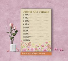 Floral wedding emoji pictionary pink floral bridal shower emoji game floral bridal shower game floral finish the brides phrase shabby chic flower theme floral bridal game printable gold and soft pink brsg04 mightylinksfo