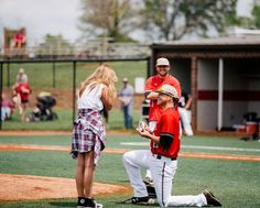 See how this baseball player proposed on the field, with the ring in an actual baseball!