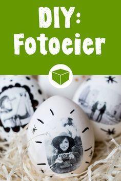 Huevos fotográficos: diseñe huevos de Pascua extraordinarios usted mismo - Bricolaje: huevos de Pascua con fotos: es tan fácil conjurar tus fotos favoritas en tus huevos de P - Diy Gifts For Kids, Diy For Kids, Make Your Own, Make It Yourself, Foto Transfer, Diy Spring Wreath, Egg Designs, Diy Décoration, Photo On Wood