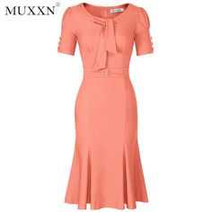 MUXXN Women's Retro 1950s Style Short Sleeve Formal Mermaid Dress Click Link : https://www.amazon.com/dp/B01N4J3GIX Promotion Price : $32.99 You can get as much as you want,there will be more surprises Like our page: https://www.facebook.com/Fashion-Shop-302516476805697/ Share this product with your SNS (Facebook, youtube,pinterest,instagram etc)
