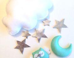 Mobile bébé coeur mobile mobile nuage par GiseleBlakerDesigns