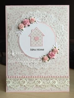 Little Lucy's Handmade Cards: In The Pink Photo Inspiration - New Home Card