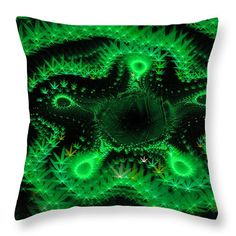 Weed art - green fractal cannabis Round Beach Towel by Matthias Hauser. The beach towel is in diameter and made from polyester fabric. Funny Pillows, Throw Pillows, Fractal Art, Fractals, Abstract Digital Art, Weed Art, Art Base, Black Abstract, Pillow Sale