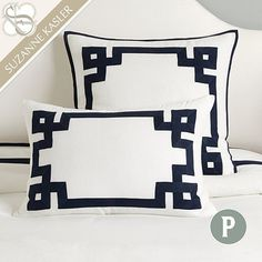 Suzanne Kasler Greek Key Sham