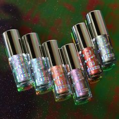 Our Holographic 3D Eye Toppers are available in 6 different shades! They are long wearing,light weight, and make your eyes sparkle👀 #makeup #beauty #holographic #holographicmakeup #crueltyfreebeauty Foil Eyeshadow, Metallic Eyeshadow, Holographic Makeup, Cat Nose, Lip Cream, Make Up, Make It Yourself, Travel Size Products, Beauty Makeup