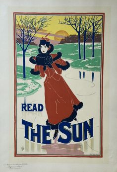 """Louis Rhead, American, (1858-1926) Condition A Original lithograph from the Les Maitres de l'Affiche series Printed by Imprimerie Chaix, Paris, 1900 11 3/8 in x 15 3/4 in """"Rhead was one of the first p"""