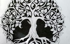 """celtic tree of life """"The tree that would grow to heaven must send its roots to hell."""" ― Friedrich Nietzsche"""
