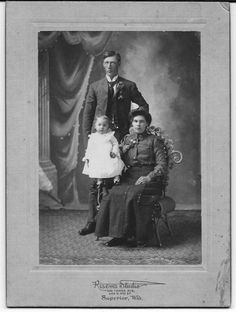 Cabinet Photo Baby Child Female Male Superior Wisconsin Genealogy AS IS #709