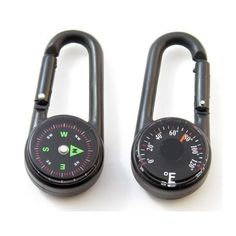 Carabiner with Compass & Thermometer