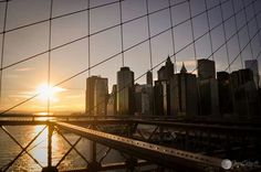 Sunset on Brooklyn Bridge!