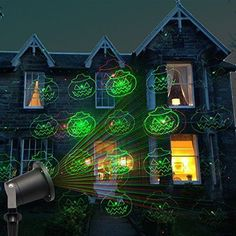 halloween outdoor lighting. Halloween Projector Light LED Outdoor Lighting Decor Waterproof Rotating Indoor #HalloweenProjectorLight | Seasonal Pinterest