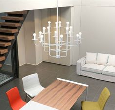 ADD ELEGANCE TO ANY ROOM LARGE CHANDELIER WHITE HANGING CONTEMPORARY 16 LIGHTS…