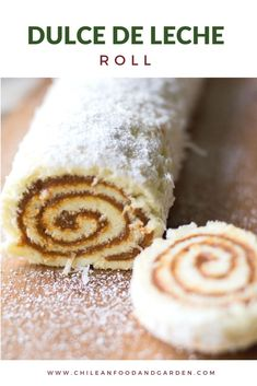 Perfect for Sunday Dulce de Leche Roll. Cake Roll Recipes, Fun Baking Recipes, Cooking Recipes, No Bake Desserts, Dessert Recipes, Chilean Recipes, Chilean Food, Decadent Cakes, Jelly Roll Pan